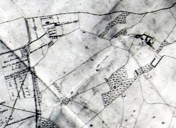The area around the church in 1800 [MA30]